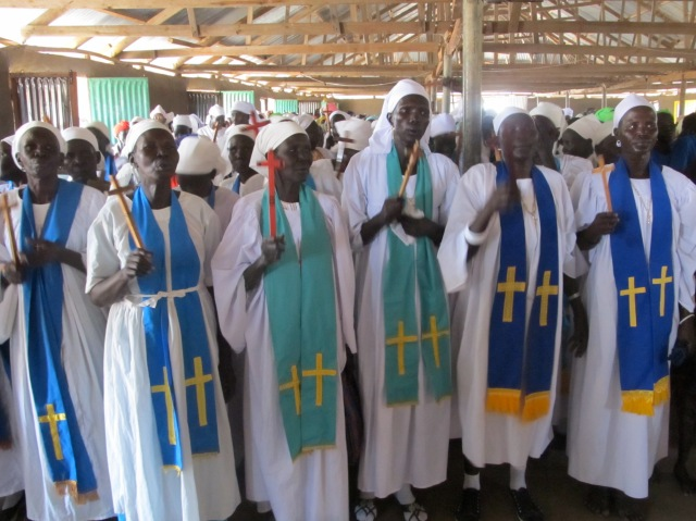 Women church leaders near Jalle, South Sudan, April 2013