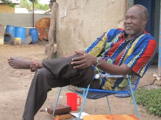 Hilary Garang Deng at home in Malakal, September 2013