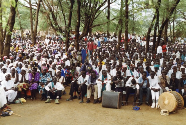 A church service at Kakuma Refugee Camp, Kenya, c. 1995