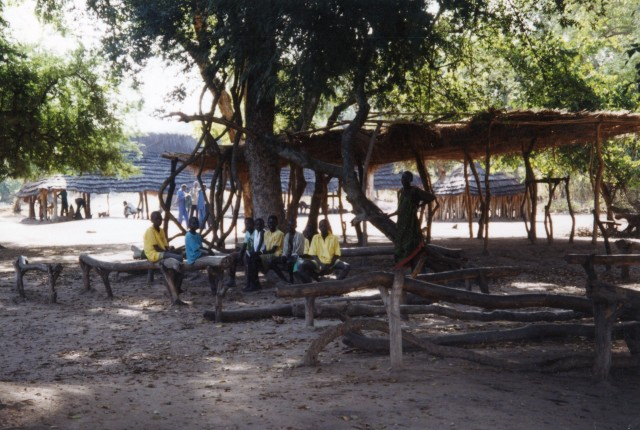 A quiet moment at Dhiaukuei Bible School, c. 1995